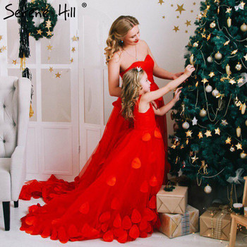 In stock Dress Royal Photography  Red New  Flower Petals Wedding Dresses Sexy Women Girl Wedding Dress Gown 2017 photo shoot