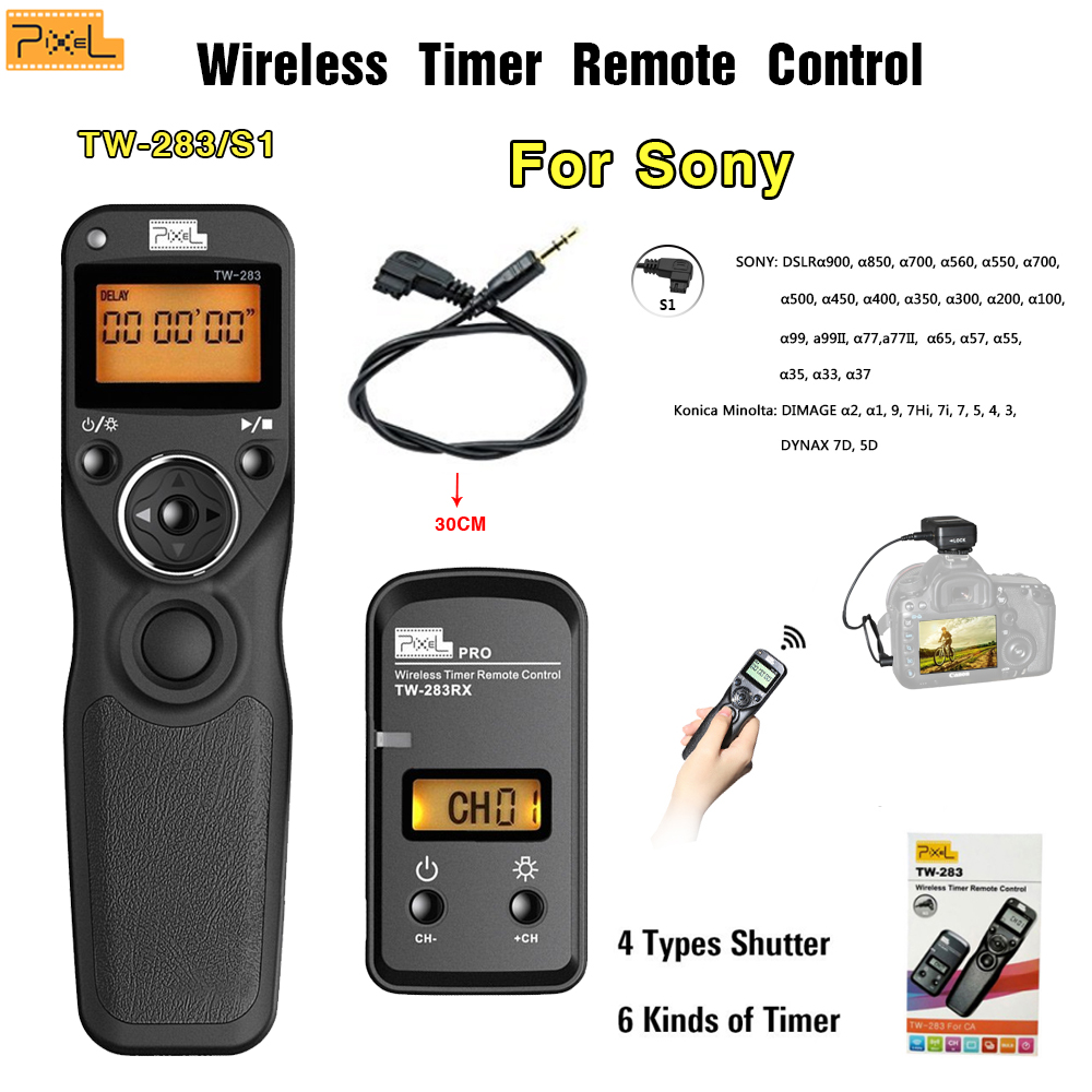 Pixel TW-283/S1 2.4G Wireless Timer shutter Remote Control For Sony A7 A7 II A7R A7R II HX300 shutter Release SLR remote стоимость