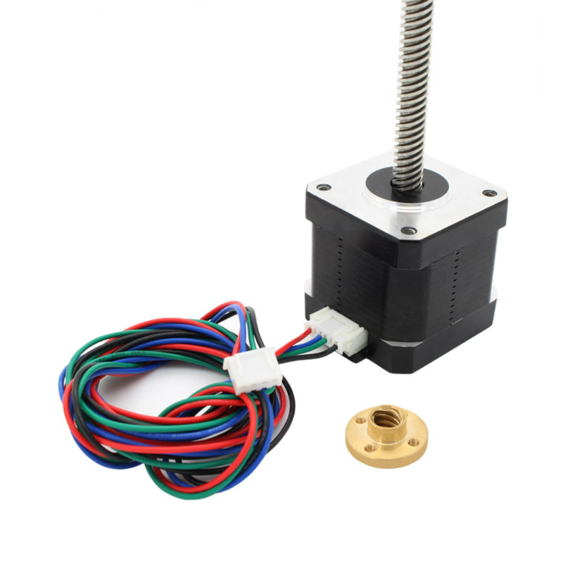 NEMA 17 Lead Screw M8 300mm Z Axis 3D Printer KIT Step Motor for 3d printer prusa Free shipping!!!