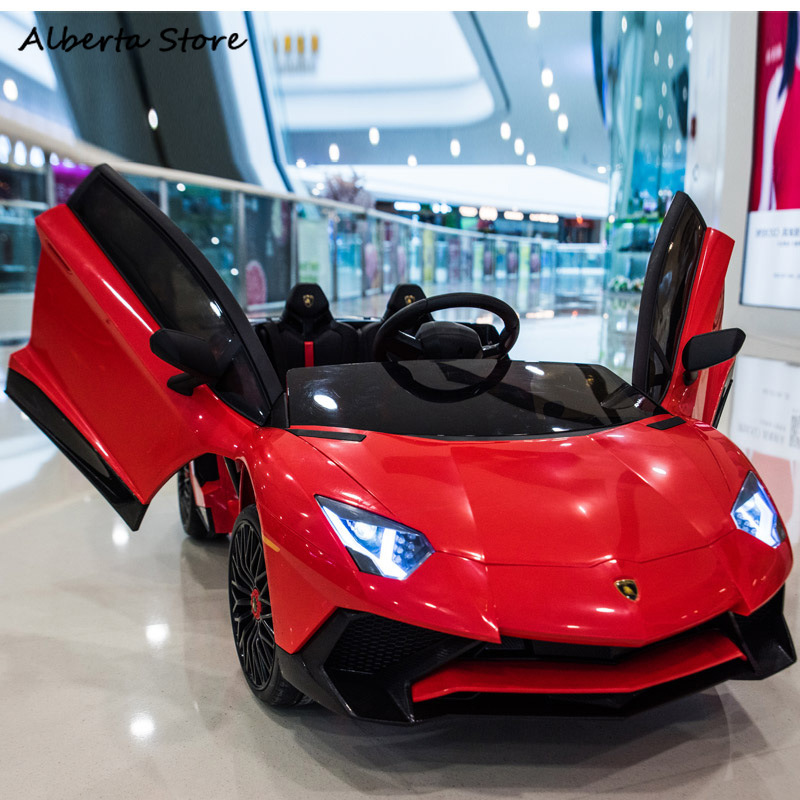 LP750-4 SV Outdoor Toy Electric Super Car Chargable Double Children Ride on Car Scissor Door LED Light Music Remote Control Baby