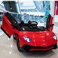 LP750-4 SV juguete al aire libre eléctrico Super coche recargable doble niños Ride en coche tijera puerta LED luz Control remoto de música bebé
