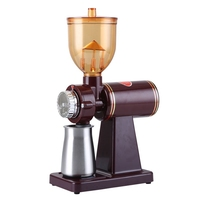 DMWD 220V Electric Coffee Grinder Grain Cereal Spices Miller Coffee Bean Grinding Machine 8 Gear Adjustable Thickness