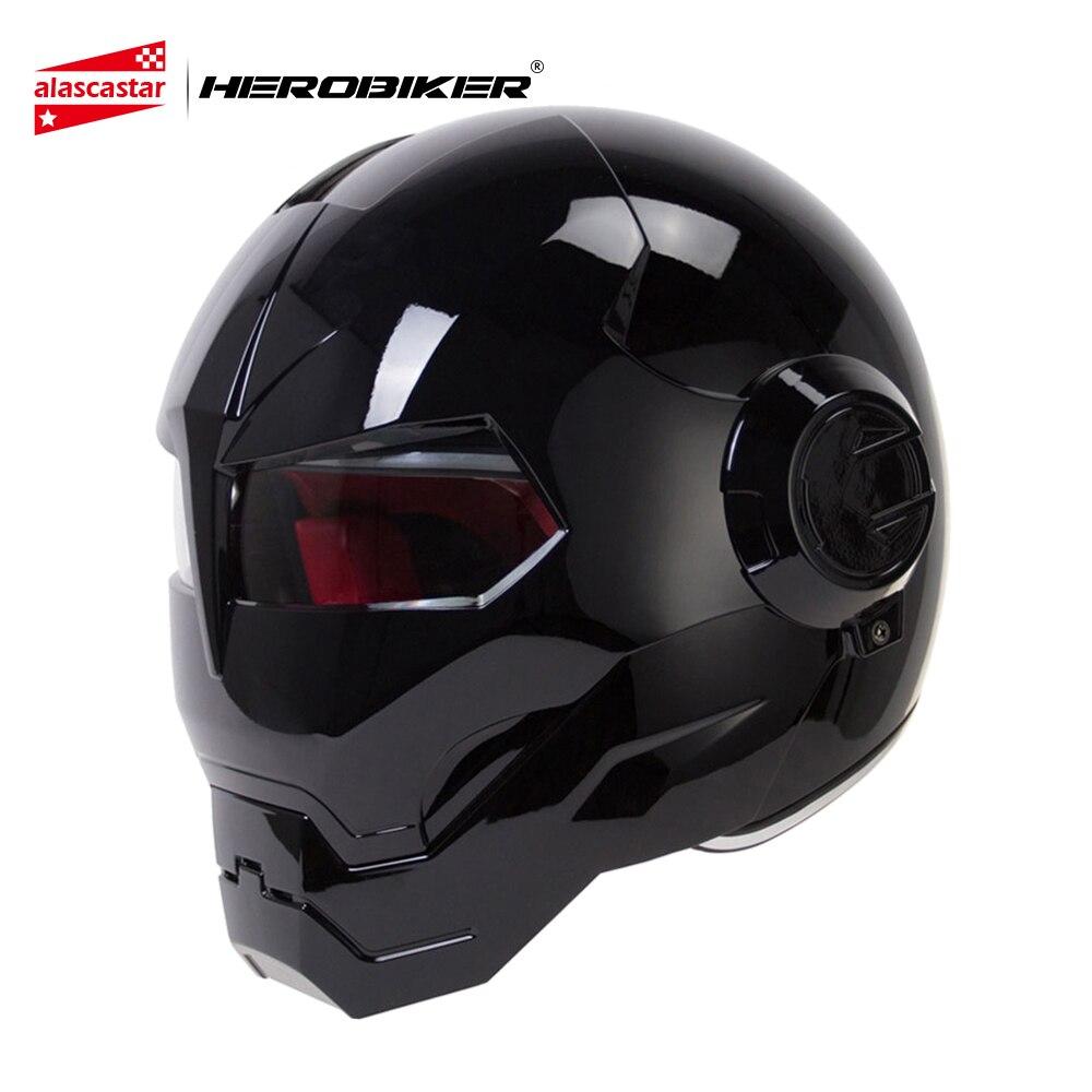 HEROBIKER Motorcycle Helmet Vintage Retro Cruiser Chopper Cafe Racer Capacetes Moto Helmet Motorbike Full Face Helmet