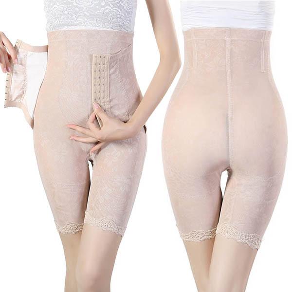 Senhora das mulheres Sem Costura Perna Shapewear Tummy Cincher Cintura Shaper Corpo Magro Calças