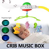 Projection Light Baby Crib Mobile Bed Bell Rattle Toys Wind Chimes Tent Hanging Decorations for Kids Newborn Gifts Nursery Decor