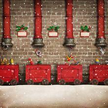 Laeacco snowy рождественские игрушки подарки Фотофон для фотостудии