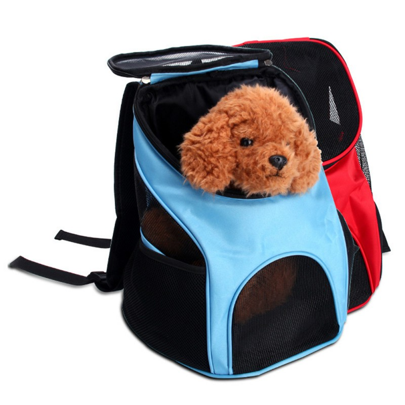 Portable Breathable Grid Bag Pet Bag Out Carrying Bag Breathable Mesh Carrier Backpack For Small And Medium Dogs #5