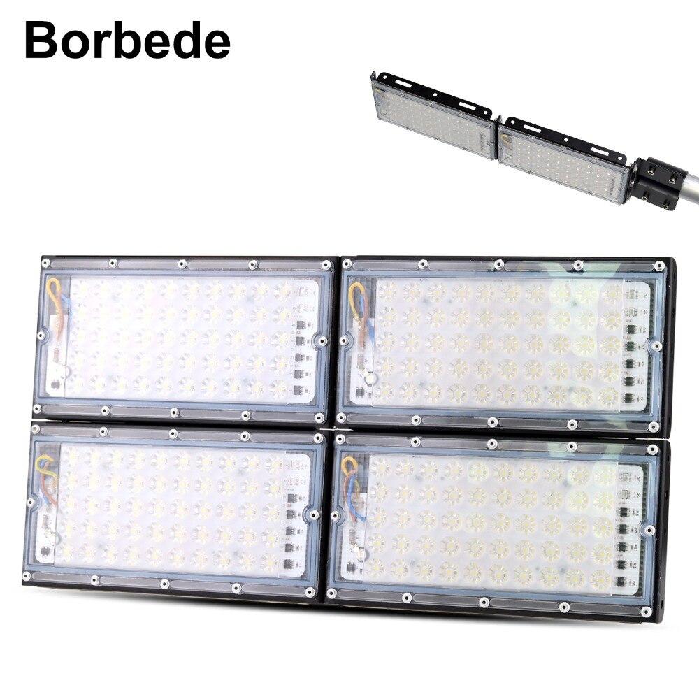 Borbede 50W 100W 200W LED Floodlights Outdoor Wall Spotlight Waterproof Lamp DIY Combination Flood Light bill boards Aluminum|Floodlights| |  - title=