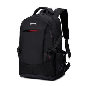 Image 2 - 男性バックパックの学校のバックパック旅行バッグ通学ショルダーバッグ子供のため bagback 黒のラップトップバッグ 15.6