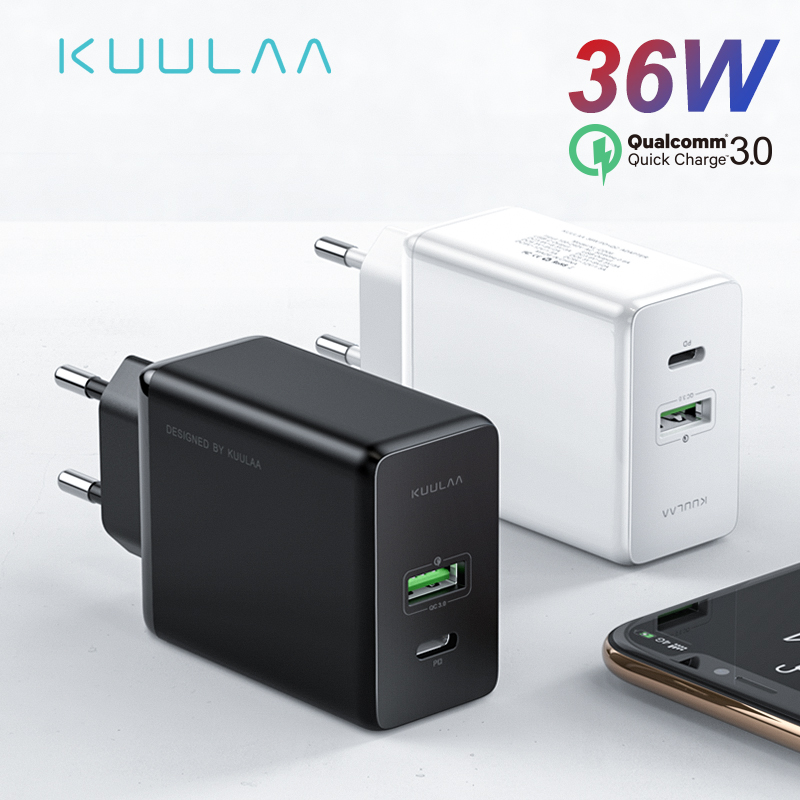 KUULAA Usb-Charger Fast-Charging-Phone-Charger Xiaomi IPhone X Mi-9 For XR Xs-Max 8 36W