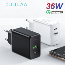 KUULAA Quick Charge 4.0 3.0 36W USB Charger PD 3.0 Supercharge Snel Opladen Telefoon Oplader Voor Xiao mi mi 9 8 iPhone X XR XS Max(China)