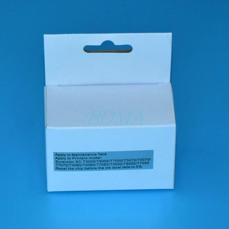 Tanque de Tinta de Manutenção Para Epson SureColor 1 * T6193 T619300 T3000 T5000 T7000 T3200 T5200 T7200 T3270 T5270 T7270 resetter chip