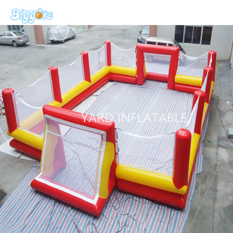 PVC Material Inflatable Human Table Football Inflatable Table Soccer With Air Blower For Game conquest s8