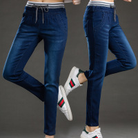 Wholesale Spring Autumn Women Jeans Stretch Skinny Pencil Pants Denim Black Bule Color Casual Plus Long