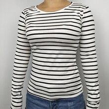 TRERONINAE Spring winter autumn 2017 Long sleeve striped undershirt women top sexy female cotton t shirt O-neck casual tee shirt