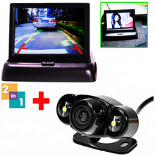 Auto Parking Assist Night Vision Car Rear View Camera Reverse Camera Back Kind to 4.3 Inch Car Flodable Monitor for Car-Styling