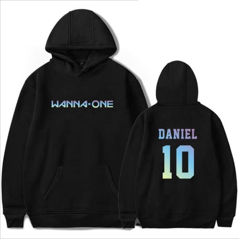 KPOP WANNA ONE KANG DANIEL Print Hoodies Men and Women Hip Hop Funny Winter Streetwear Hooded Sweatshirt For Couples Clothes 4XL