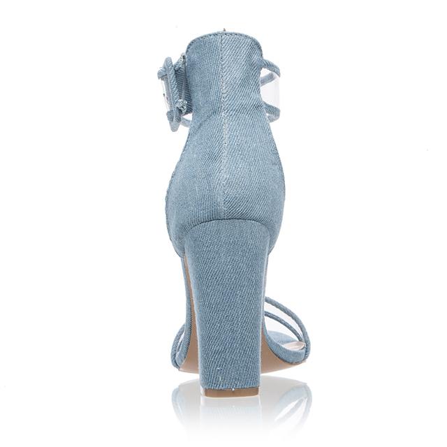 Parkside Wind Trendy Sandals Size 35-43 Women Ankle Strap Heel Sandal Transparent Shoes Crystal Concise Party High Heels Shoes-5