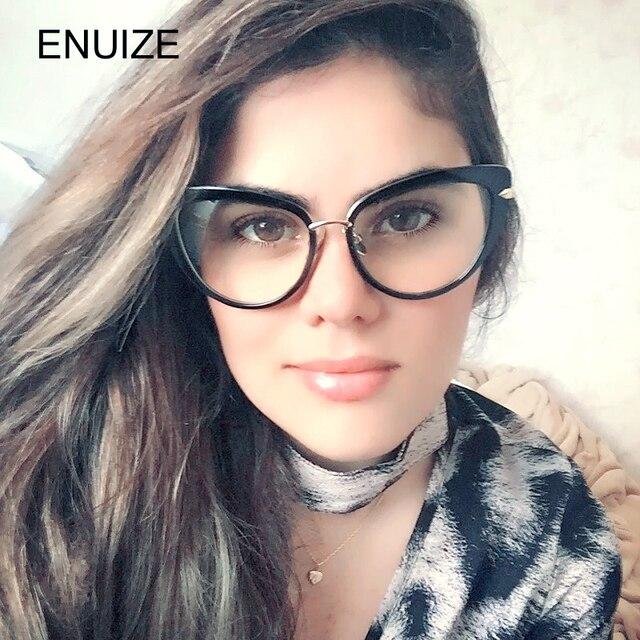 Retro Plain Lens Cat Eye Glasses Frame Brand Designer Women Optical Myopia Eyewear Frames Clear Lens Eyeglasses Gafas