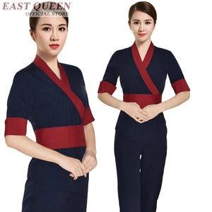 Image 5 - Uniforme para masaje uniformes de camarera, matorrales, salón de spa, conjuntos de belleza para enfermera, esteticista, uniforme para masaje tailandés s FF617 A