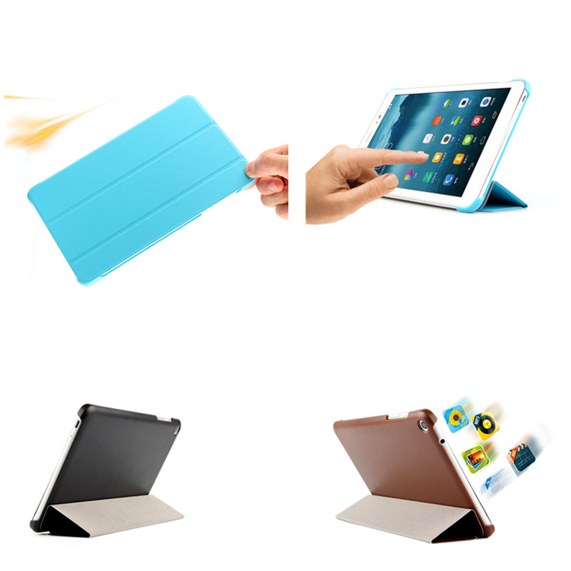 High quality Ultra-thin Stand PU Leather+Hard Shell Case cover For Lenovo A8-50 A5500 Tablet cover With PC Back Cases