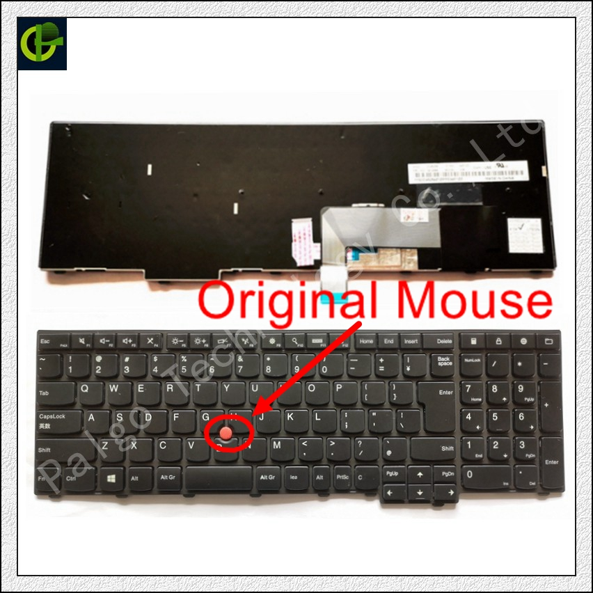 New Original English Keyboard for Lenovo ThinkPad W540 W541 W550s T540 T540p T550 L540 Edge E531 E540 0C44592 0C44913 0C44944 US jigu 20v 8 5a fankou laptop charger ac adapter power for lenovo legion y720 for thinkpad p50 p70 t440p t540 t540p w540 w541