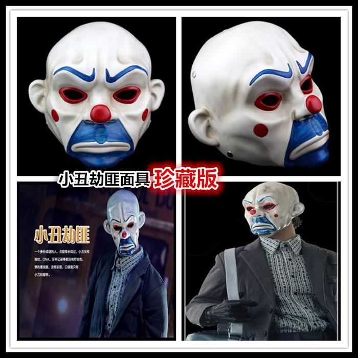 High-grade Resin Joker Bank Robber Mask Clown Batman Dark Knight Prop Masquerade