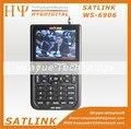 "[ Genuine ] Satlink WS-6906 3.5 "" DVB-S FTA digital medidor de satélite localizador de satélite ws 6906 Satlink ws6906 frete grátis"