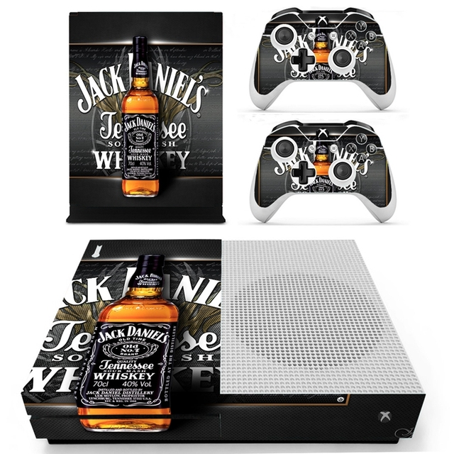 Homereally for xbox one s skin classic jack daniels custom sticker cover for xbox one slim
