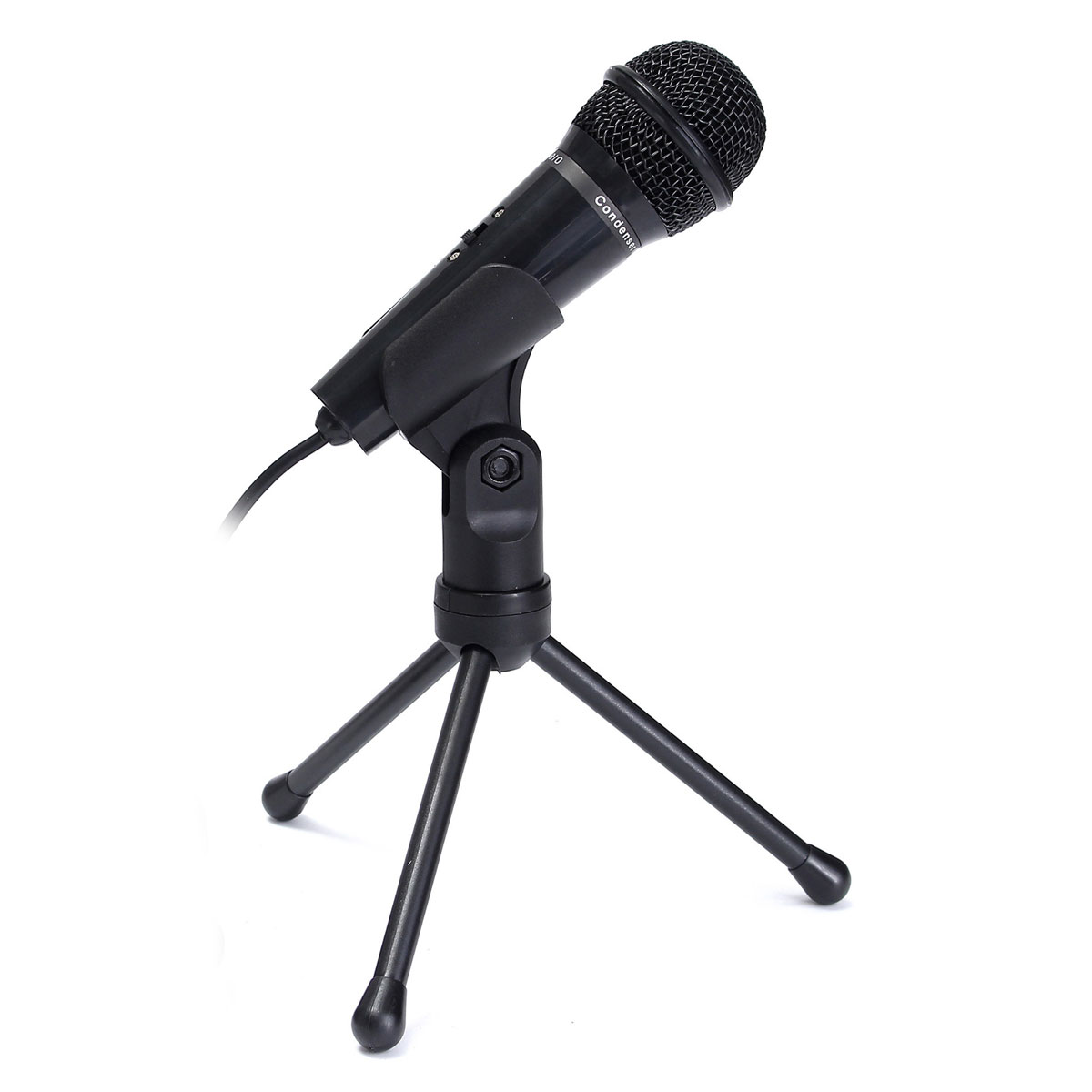 new hot sale condenser microphone recording mic with stand for pc laptop desktop computers. Black Bedroom Furniture Sets. Home Design Ideas