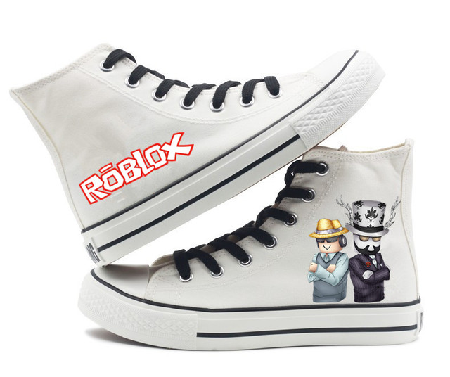 US $27 99 |Unisex Game Roblox canvas High top Flat Shoes Sneakers men Women  Badcc and Asimo Casual Printing Shoes Leisure Shoes -in Shoes from Novelty