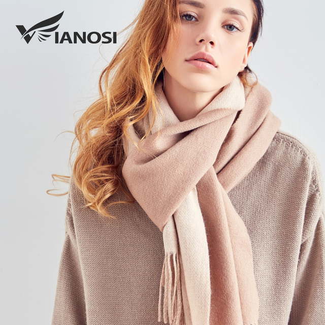 [VIANOSI] 100% Wool Scarf Women Winter Scarves Brand Foulard Femme High Quality Solid Tassel Bufandas Invierno Mujer 2018