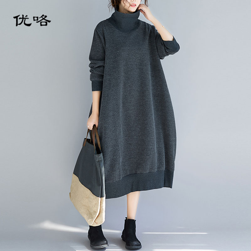 Tops dress oversized plus size turtleneck sweater and