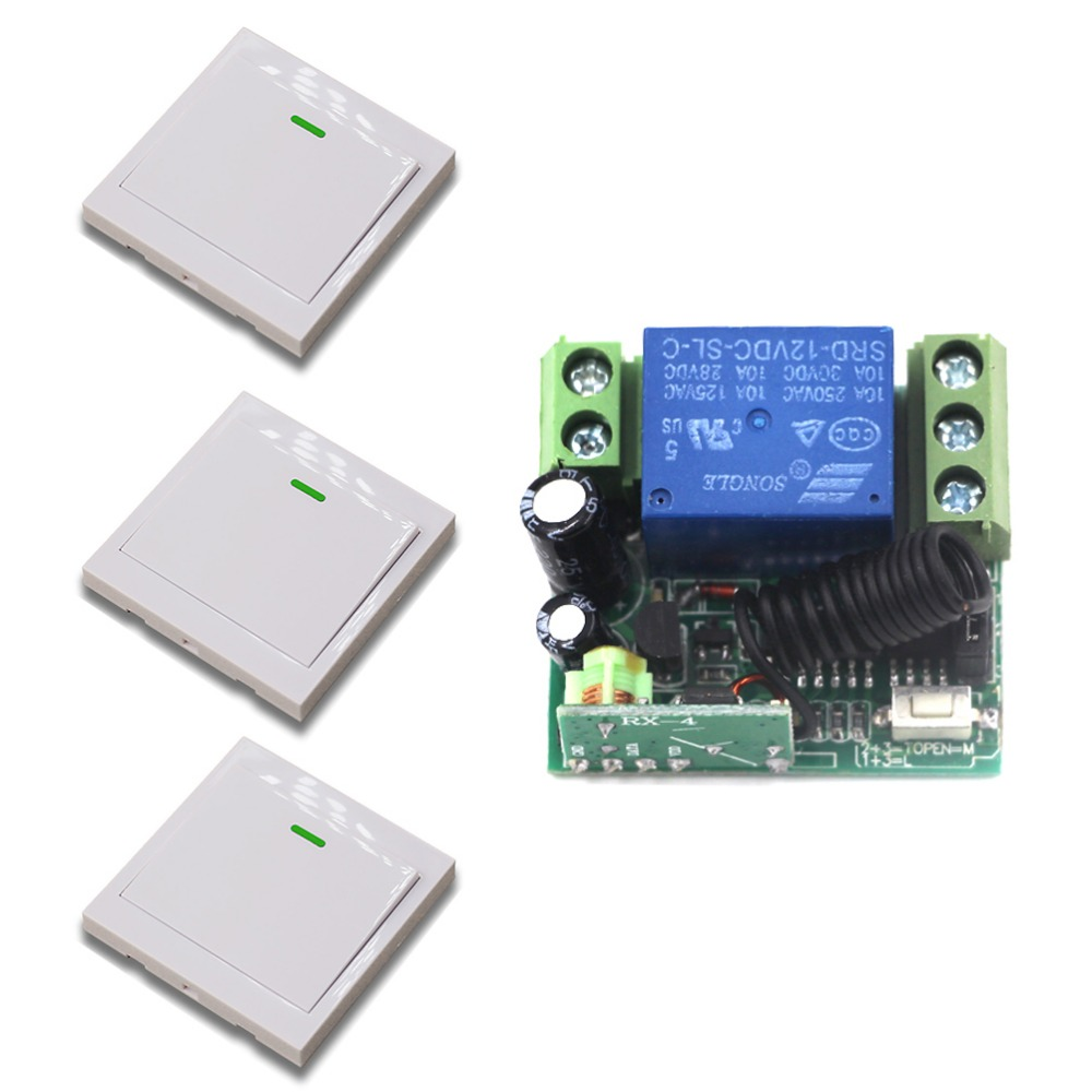 DC12V 10A Relais 1CH drahtlosen HF-Fernbedienung Schalter Sender Empfänger