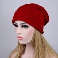 New Fashion 5Colors Women Men Knitting Beanie Hip-Hop Winter Warm Caps Unisex Folds Hats for Women Feminino