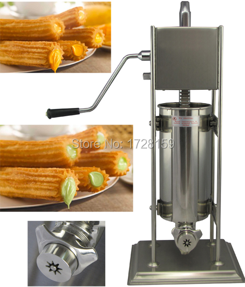 15L spanish churro machine quality churro filling maker machine / churro making machine / spanish churro machine fast food leisure fast food equipment stainless steel gas fryer 3l spanish churro maker machine