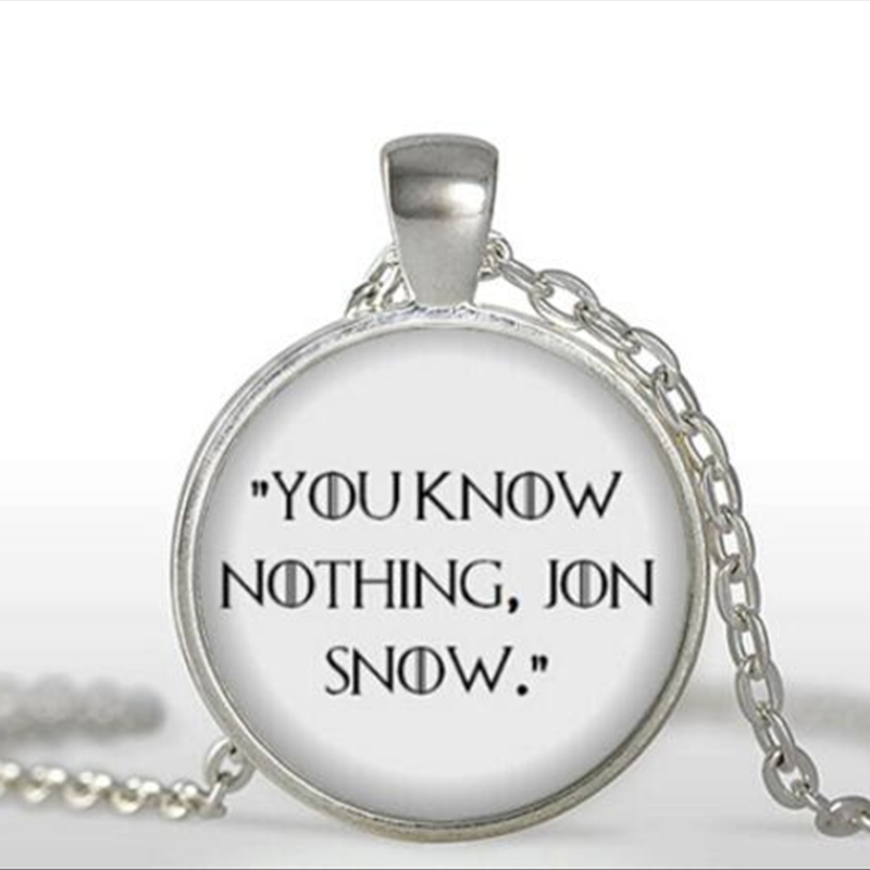 How To Make A Book Quote Pendant : Game of thrones necklace you know nothing jon snow book
