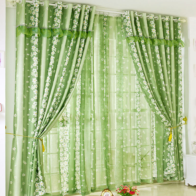 Beau Green Heart Beat Fresh Brief Green Window Curtains For Living Room Bedroom  Hole Digging In Curtains From Home U0026 Garden On Aliexpress.com | Alibaba  Group