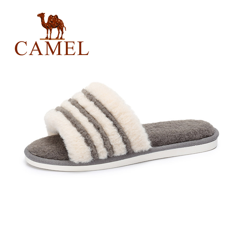 CAMEL New Women Winter Home Fur Warm Fashion Slippers Women Winter Indoor Full Fluffy Faux Flat Casual Simple Slip On Sliders цена 2017