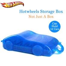 Hot Wheels автомобильный трек игрушка ABS пластиковый ящик для хранения Hotwheels автомобильная парковочная площадка удобная модель держатель для автомобилей подарки