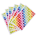 6 Sheets Self Adhesive Photo Album Craft Stickers Scrapbooking Diary Decorating-Heart