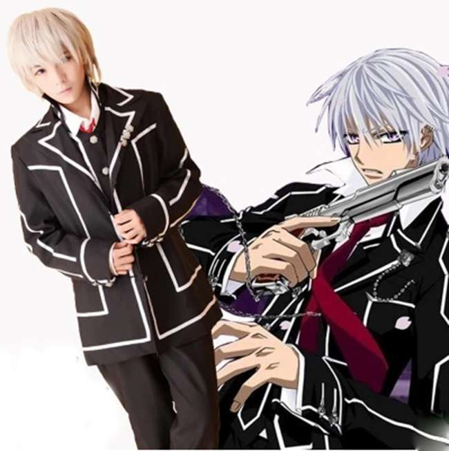 Movie Vampire Knight Kiryu Zero Cosplay Costume Day Class School Uniform