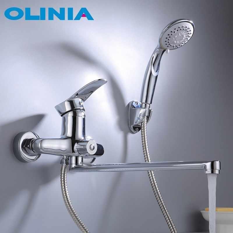 Olinia banheira sistema de chuveiro cabeça de chuveiro conjunto misturador do banho de chuveiro misturador torneira do banho com chuveiro torneira do banheiro água fria e quente mixerOL8096