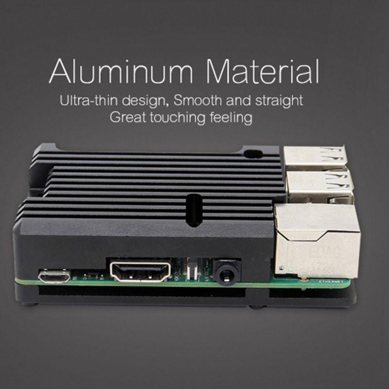 Étui de protection pour radiateur en alliage d'aluminium coque de refroidissement en métal pour accessoires Raspberry Pi 3 modèle B/B +/2B