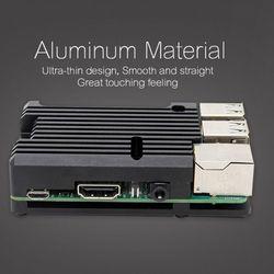 Caso protetor do radiador da liga de alumínio metal escudo de refrigeração para raspberry pi 3 modelo b/b +/2b acessórios