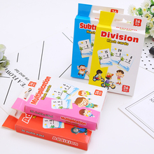 Kids Playing Cards  Math Learning Card Educational Games Cards Advances Flash Study Cards Teaching Cards Flash Memory Poker Card subtraction 52 flash cards