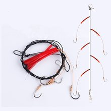 String hook 2pcs/lot 5# 6# 7# 8# 9# 10# 11# 12# 13# 14# High Carbon Steel with 5 Small Hook Rigs Swivel Sea Fishing Tackle(China)