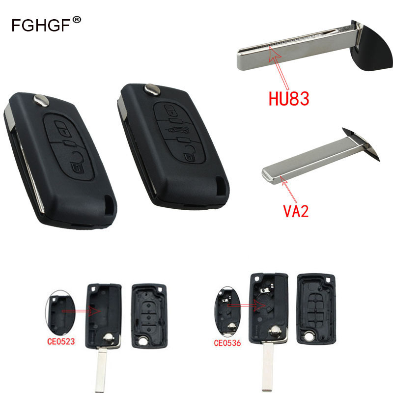 FGHGF Flip Folding Car Key Cover for Peugeot 207 307 308 407 607 807 Remote Key Fob Silicone Shell for Peugeot with Logo keyyou remote key case shell for peugeot 407 407 307 308 607 key cover 3 buttons flip key case with car symbol with logo