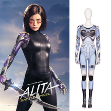MANLUYUNXIAO Alita Cosplay Battle Angel Outfit Halloween Costumes For Women Black Leather Uniform Girls Jumpsuit Plus Size Made