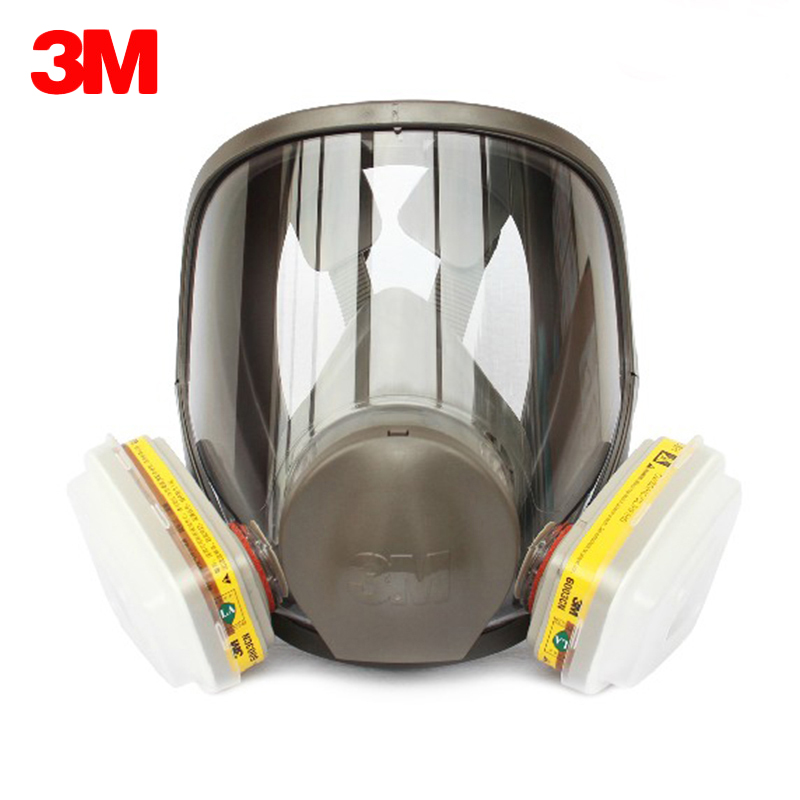 3M 6800 Gas Mask Suit Silicone Full Face Respirator Masks With Filter Cartridge Safety Mask Painting Spraying Toxic Gas Prevent 9 in 1 suit gas mask half face respirator painting spraying for 3 m 7502 n95 6001cn dust gas mask respirator